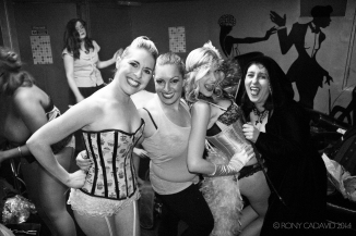The Supernova Bombshells at She Bar - Backstage